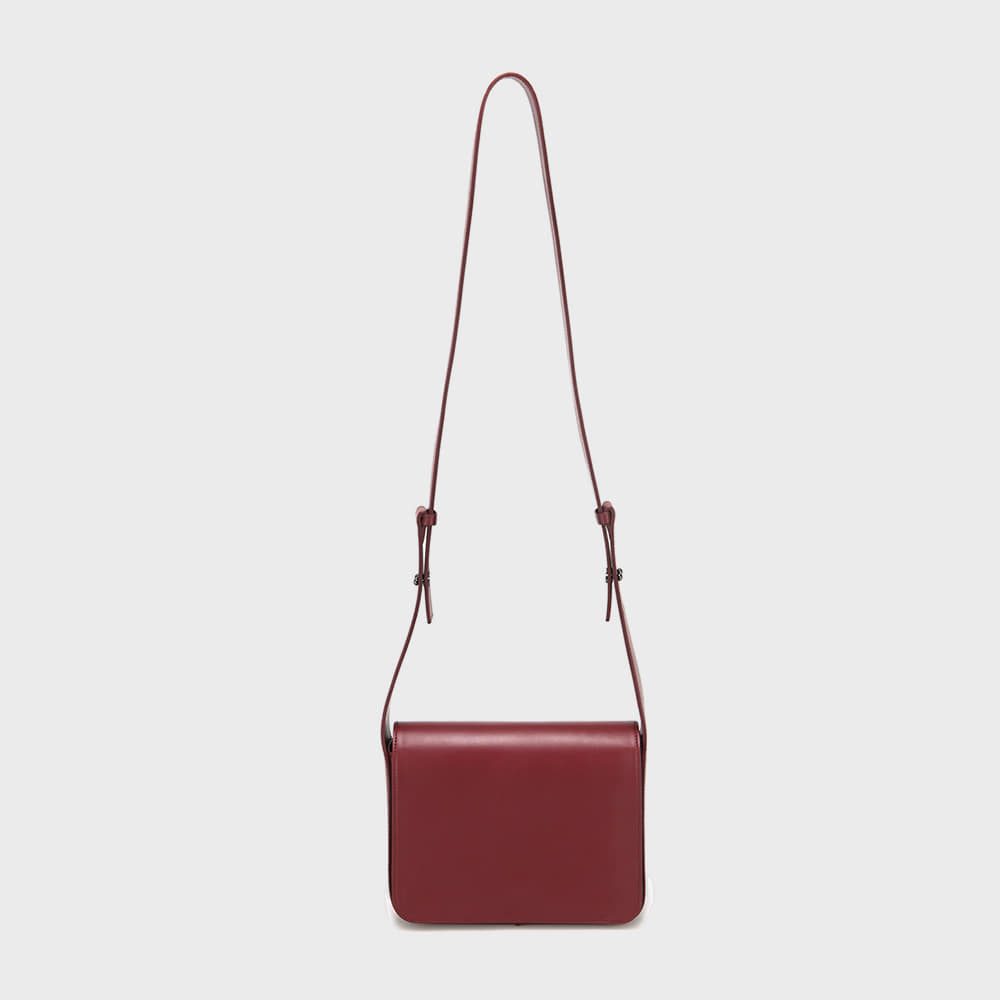 WIDE STRAP BAG - WINE
