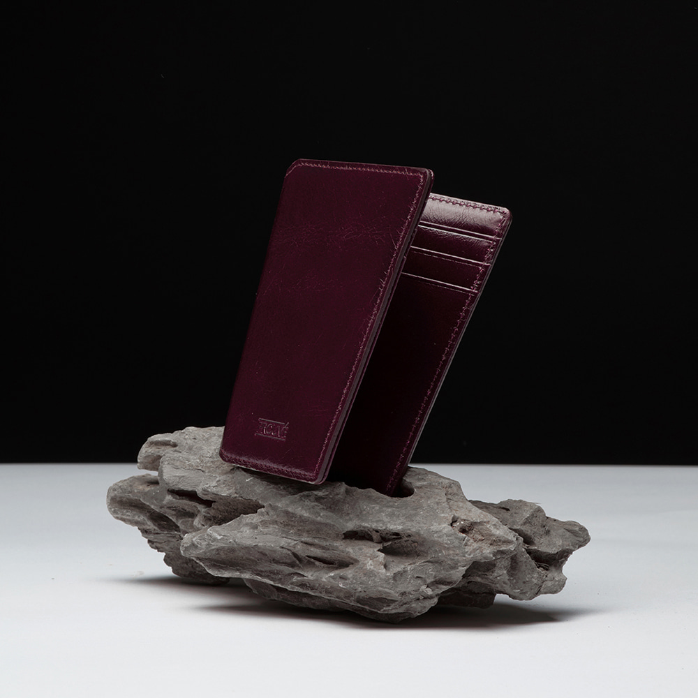 CARD WALLET - BURGUNDY