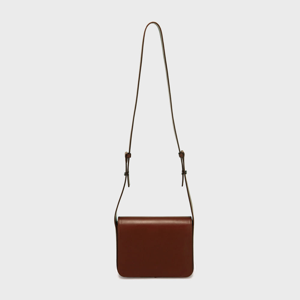 WIDE STRAP BAG - BROWN